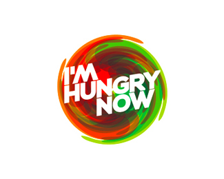 i'm hungry now restaurant order online catering logo design by alex tass