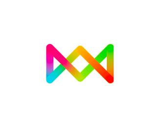 k monogram candy logo design symbol by alex tass