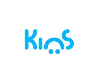 kins app events nightclubs logo design by alex tass