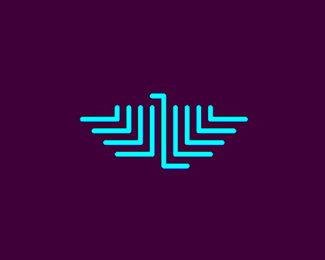 l legion eagle monogram symbol logo design by alex tass