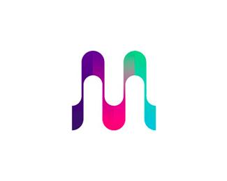 mu monogram logo design symbol by alex tass