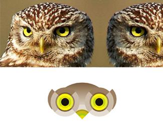owls eyes logo design symbol by alex tass