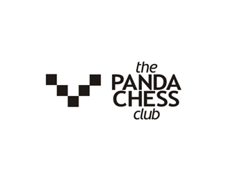 panda chess club logo design by alex tass