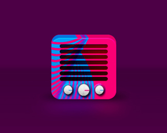 rive radio app icon final logo design by alex tass