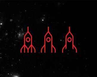 rockets logo design symbol by alex tass