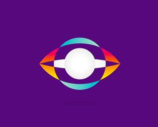 space watchers eye planet logo design symbol by alex tass