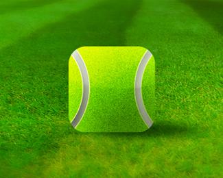 tennis ball grass court video app application icon design alex tass