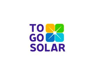to go solar energy panels logo design by alex tass
